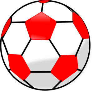 Red Soccerball Clip Art At Clker Com   Vector Clip Art Online Royalty