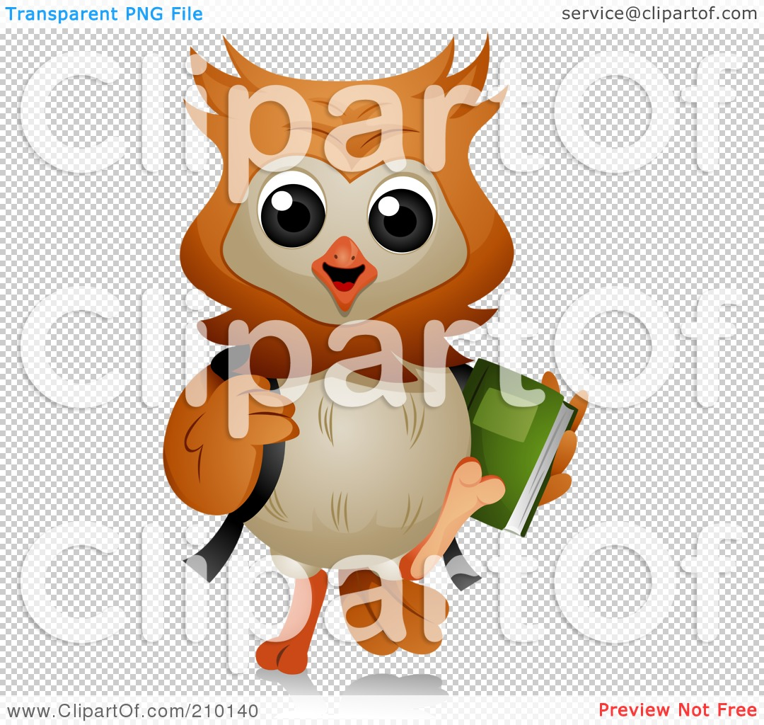 Owl Carrying Books Clipart - Clipart Kid