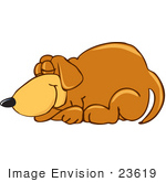 Royalty Free Sleeping Dog Stock Clipart   Cartoons   Page 1