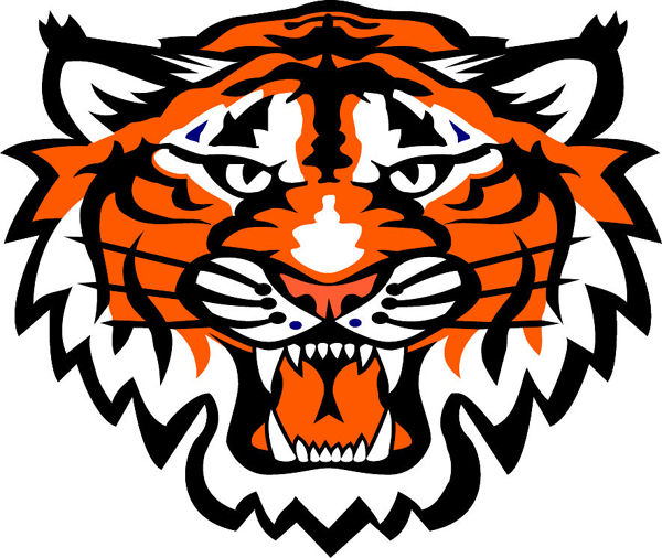 Tiger Mascot Clipart Tiger Mascot Logos Tiger Head Team Mascot Color