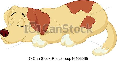 Vector Of Cute Dog Cartoon Sleeping   Vector Illustration Of Cute Dog