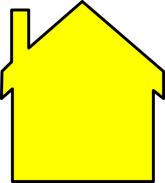 Yellow House Outline Clip Art At Clker Com   Vector Clip Art Online
