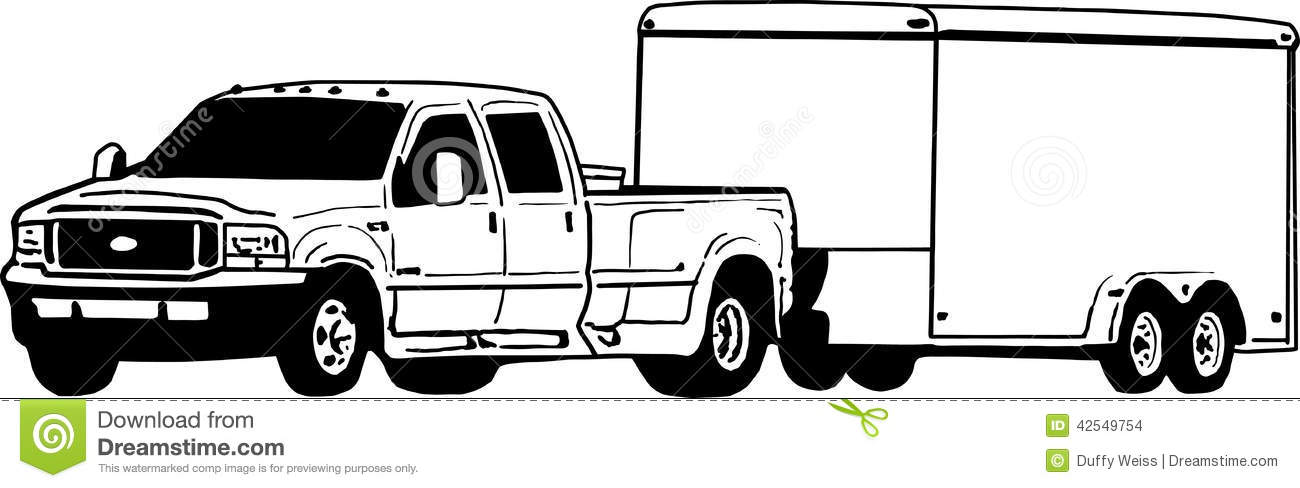 And Enclosed Trailer Illustration Stock Illustration   Image  42549754