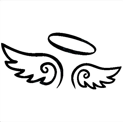 Angel Wings Decal With Halo Angels Decals Angels Stickers Vinyl