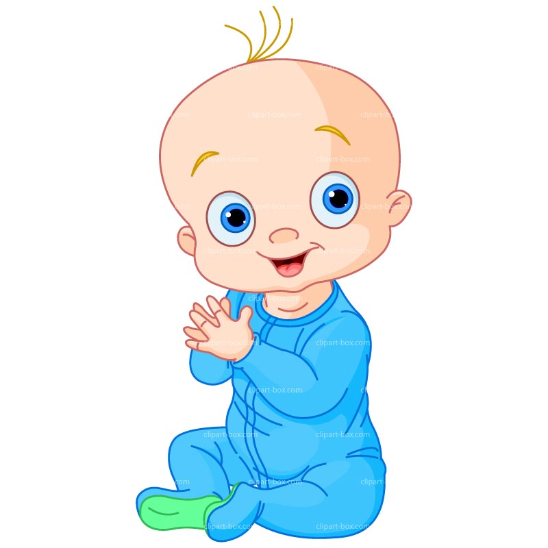 Clipart Baby Boy Clapping Royalty Free Vector Design