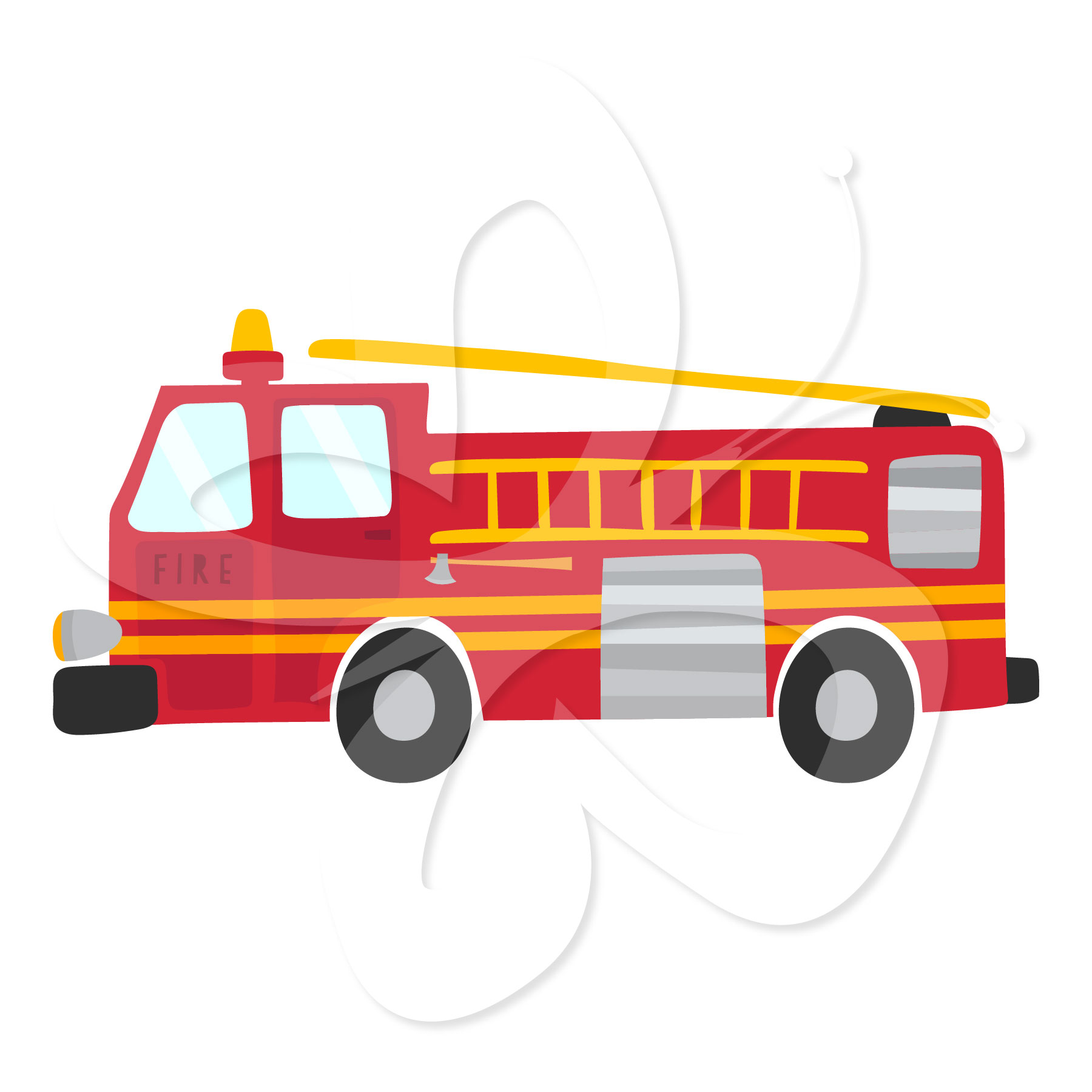 Fire Engine And Fireman Clip Art Set   Creative Clipart Collection