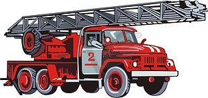 Fire Engine   Vector Eps Clipart