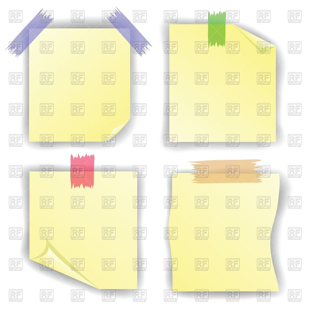 Papers On Sticky Tape Download Royalty Free Vector Clipart  Eps