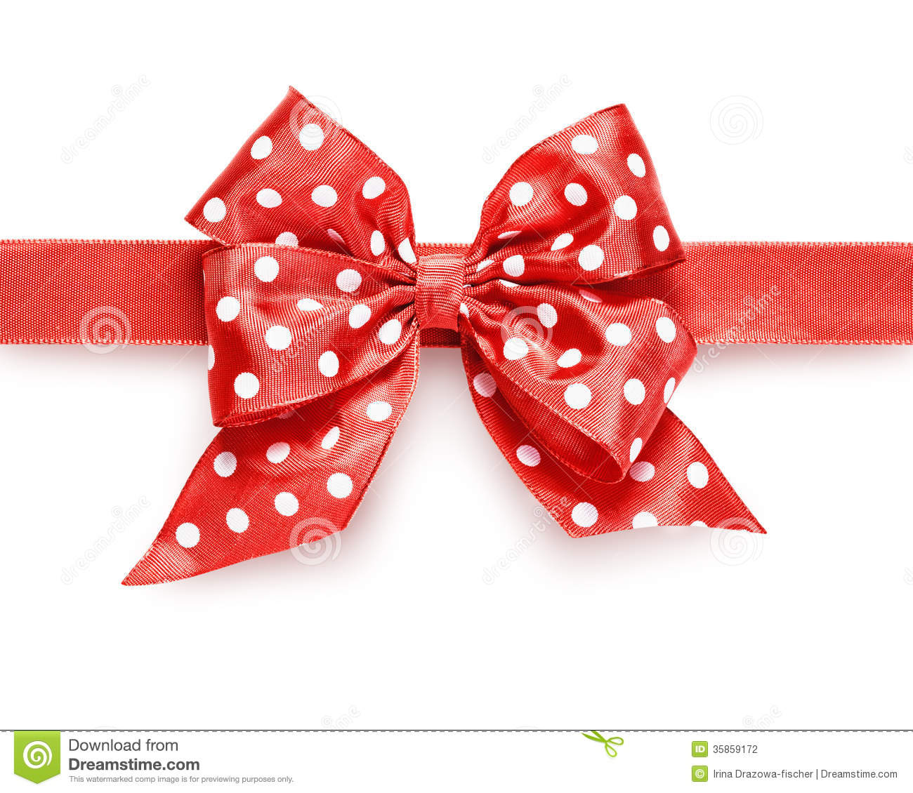 dotted red ribbon and - photo #9
