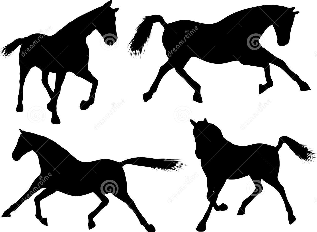 Quarter Horse Running Silhouette Quarter Horse R...