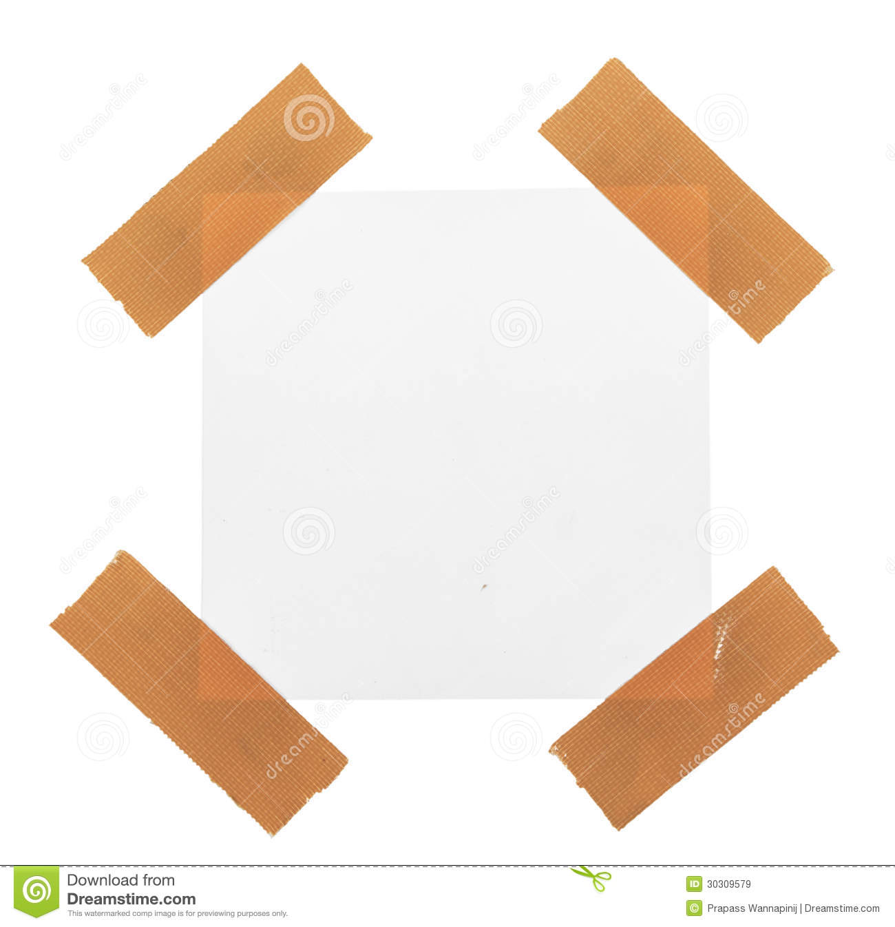 Sticky Tape On Note Paper Isolated Royalty Free Stock Images   Image