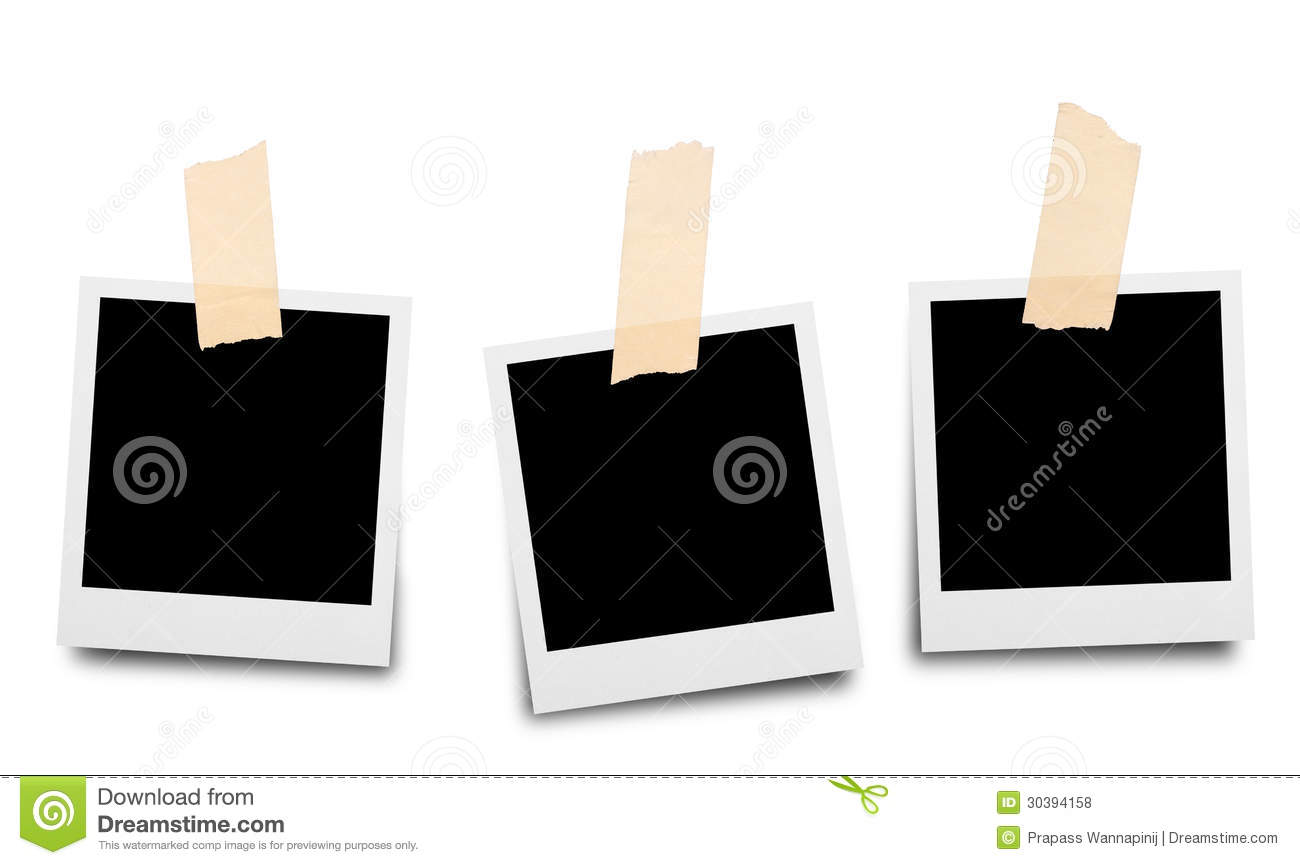 Sticky Tape On Paper Photo Frame Royalty Free Stock Photos   Image