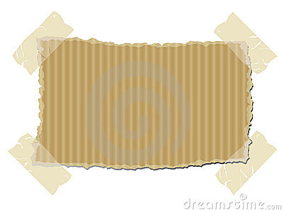 Torn Cardboard With Sticky Tape Royalty Free Stock Photos   Image