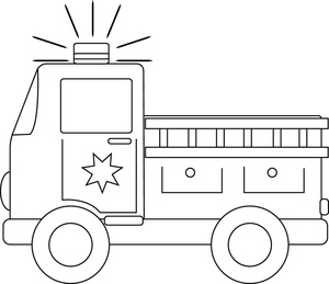 Truck Coloring On Fire Engine Clipart Image Fire Truck Coloring Page
