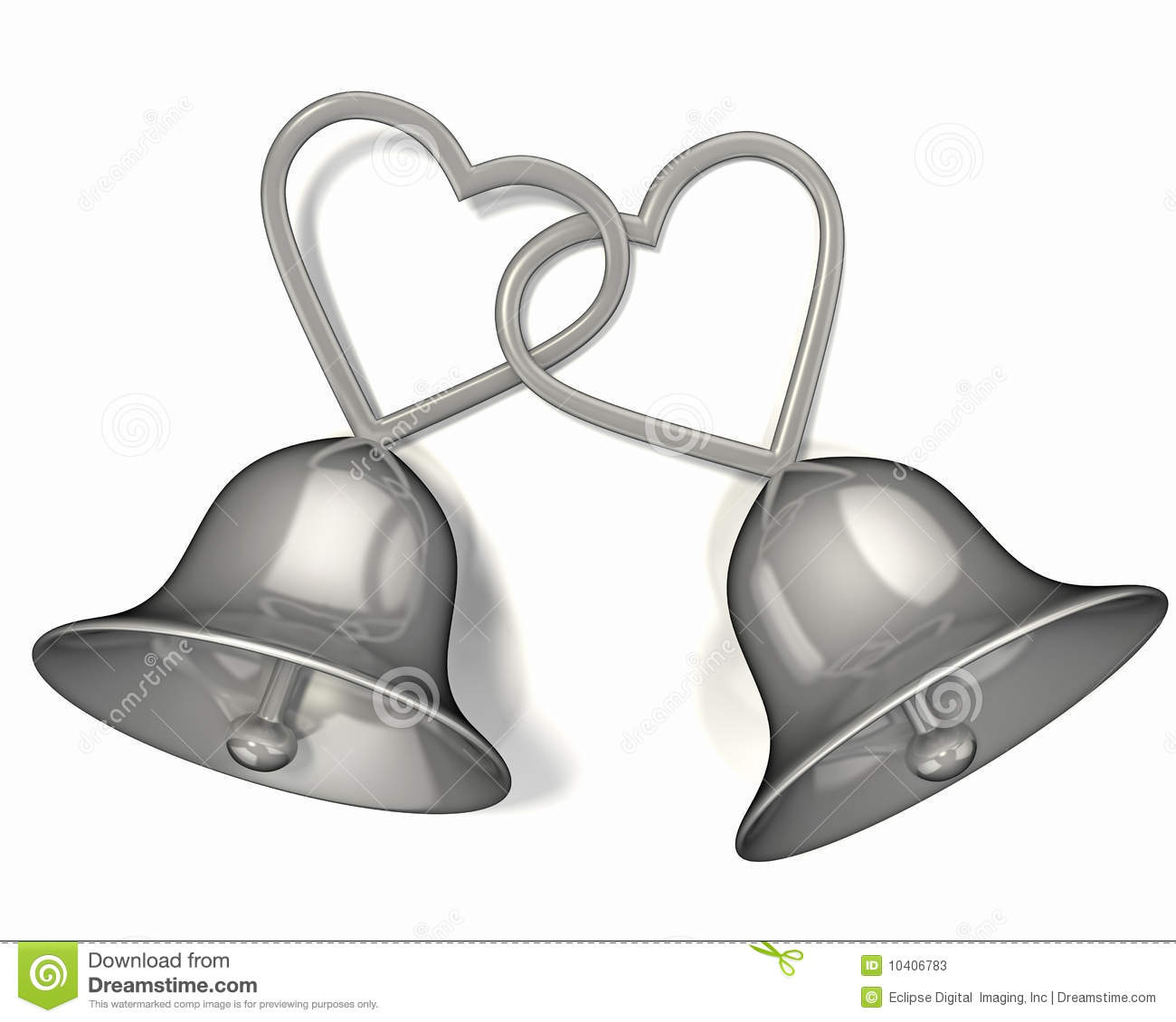 Wedding Bell Clipart: Wedding Bells And Hearts Clipart