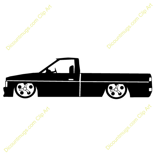 27 Description 1990s Lowrider Truck Side View Keywords 1990s Lowrider