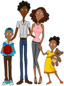 Art  62 African American Family Illustration And Vector Eps Clipart