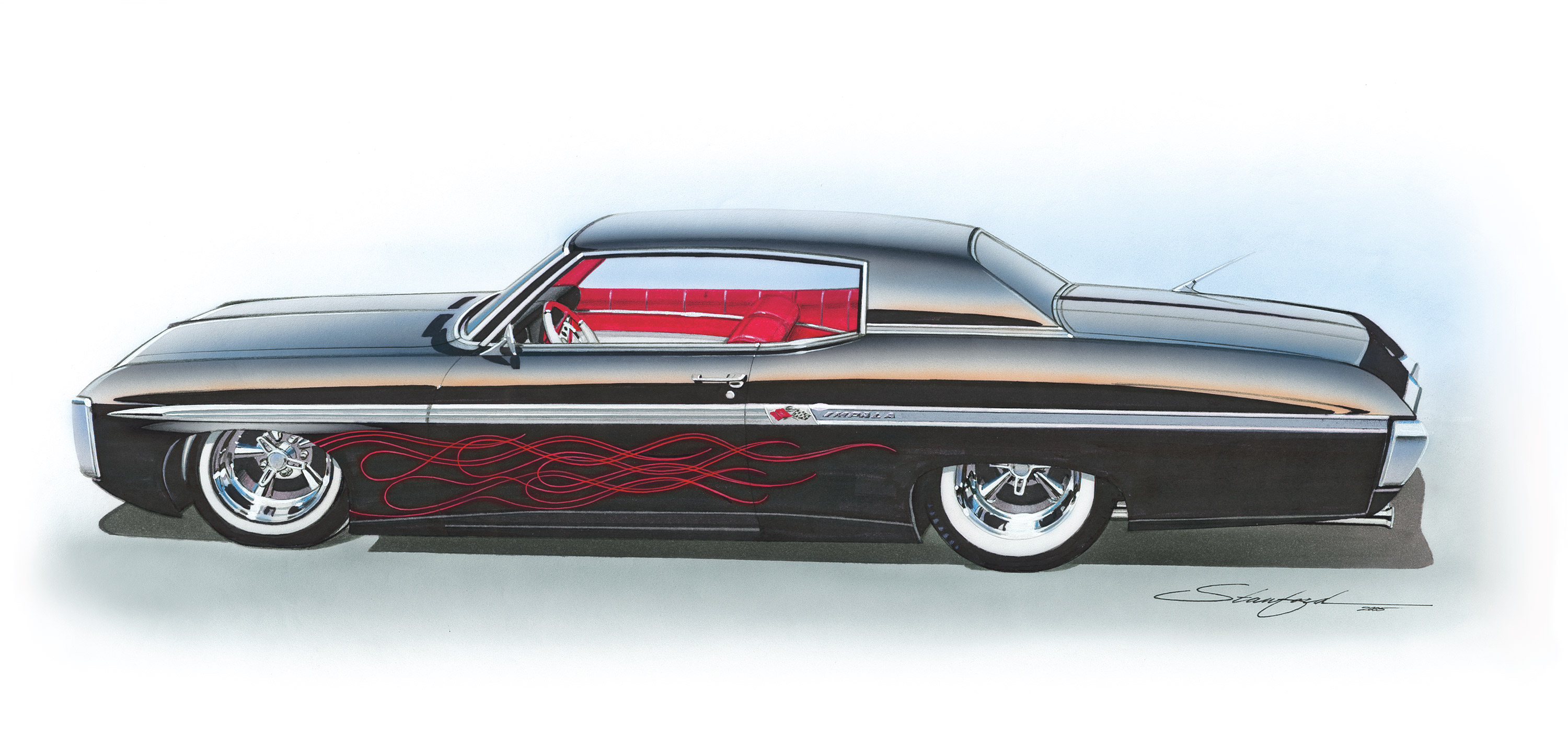 Chevy Hot Rod Impala Lowrider Classic Muscle Cars Wallpaper Background