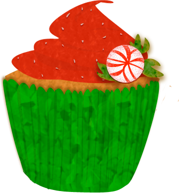 Christmas Cupcake Clip Art By Wisp Stock On Deviantart