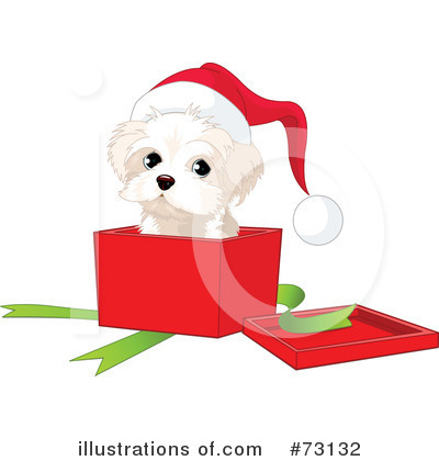 Christmas Puppy Clipart  73132 By Pushkin   Royalty Free  Rf  Stock