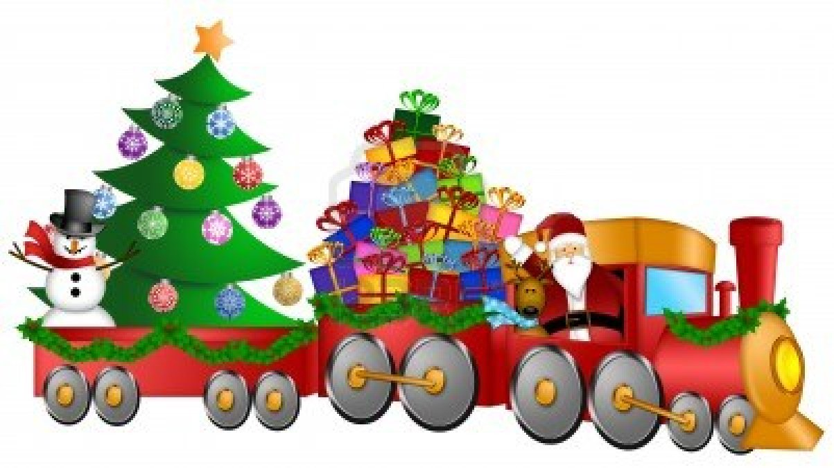 Christmas train clipart suggest