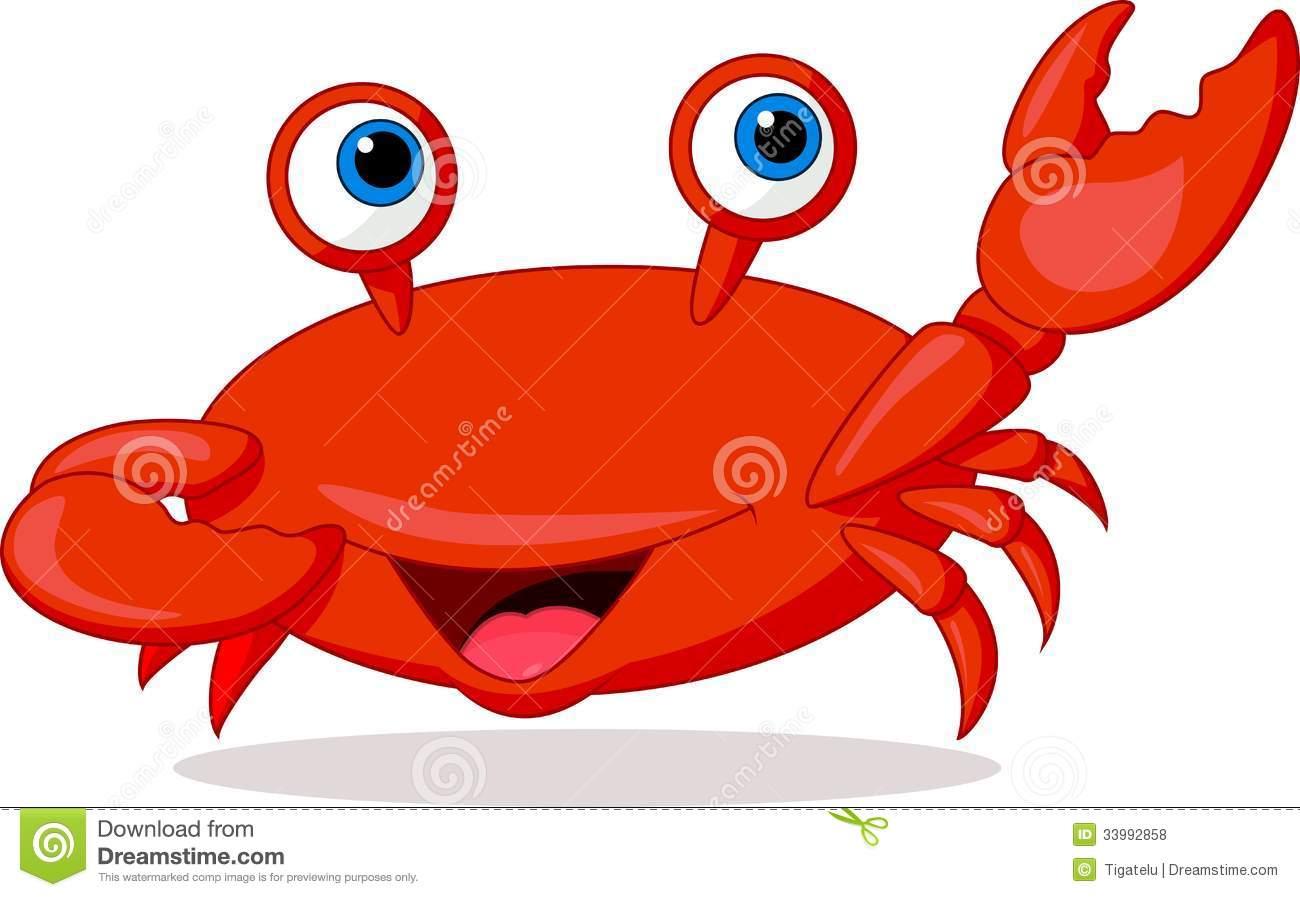 Crab underwater clipart