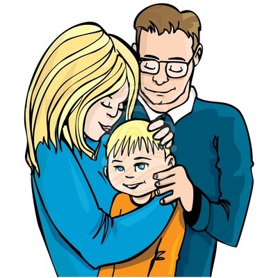 Family Clip Art Illustration Of Family Of Three Cute Clipart 83383875