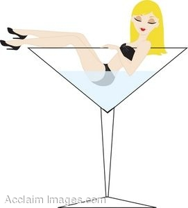Clip Art Woman Martini Clipart - Clipart Kid