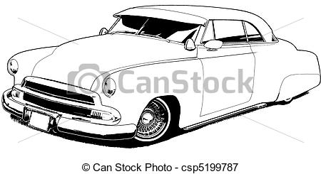 Lowrider   Black Line Illustration Csp5199787   Search Eps Clipart