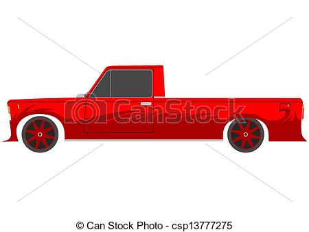 Red Retro Lowrider On A White Background Csp13777275   Search Clipart