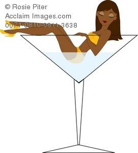 Royalty Free Clipart Illustration Of A Woman In A Martini Glass