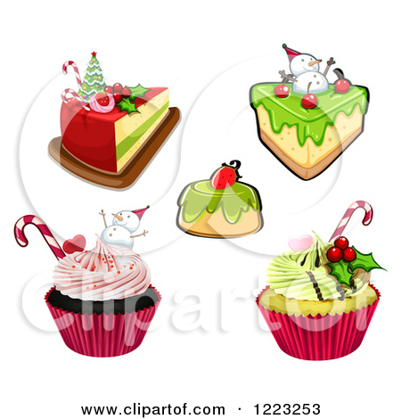 Royalty Free  Rf  Christmas Cupcake Clipart Illustrations Vector