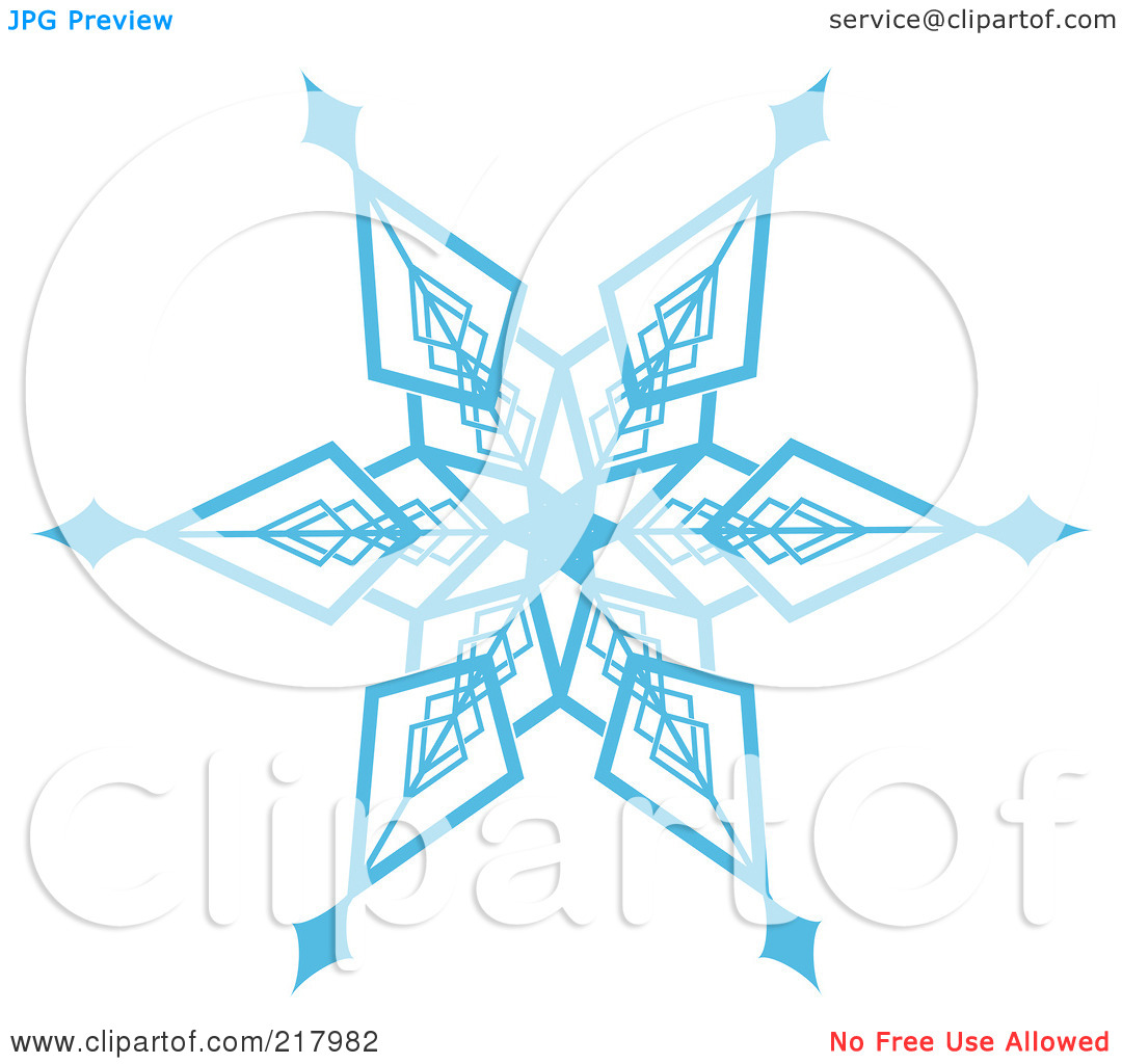 Royalty Free  Rf  Clipart Illustration Of A Beautiful Ornate Blue Icy