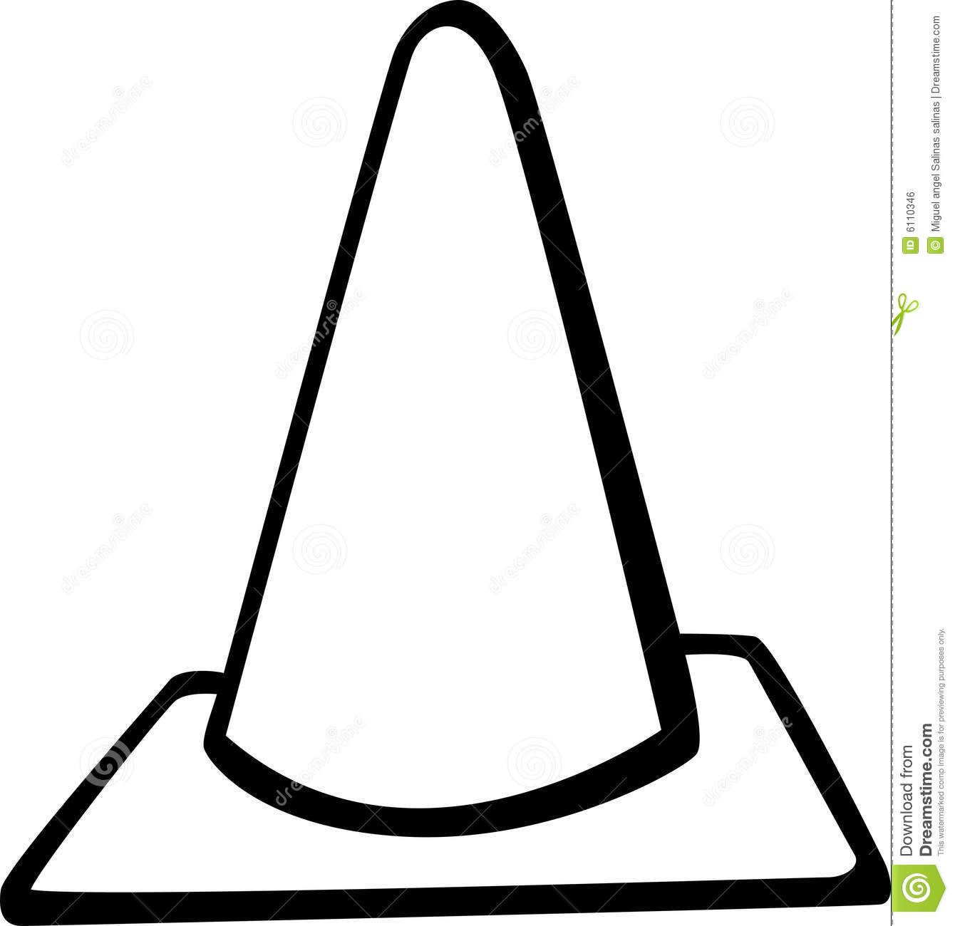 Traffic Cone Road Signal Vector Illustration Royalty Free Stock Image