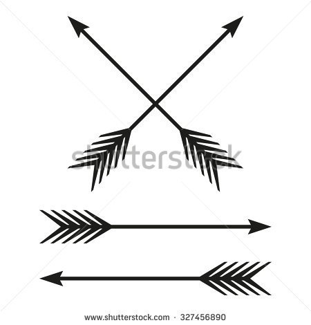 Arrows Set  Bow Arrow Isolated On White Background  Vintage Design