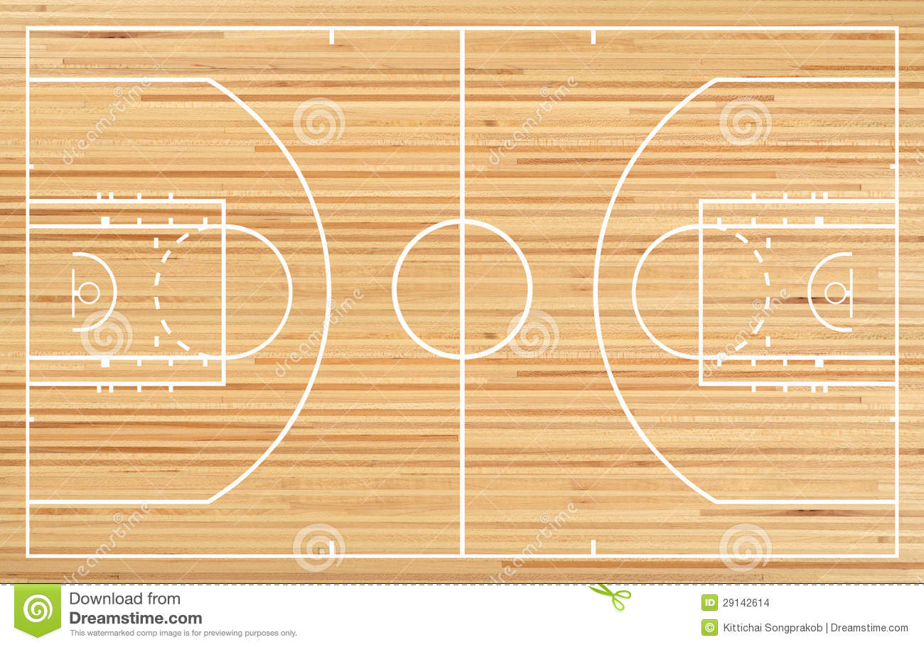 Basketball Court Floor Plan On Parquet Background Mr No Pr No 2 323 4