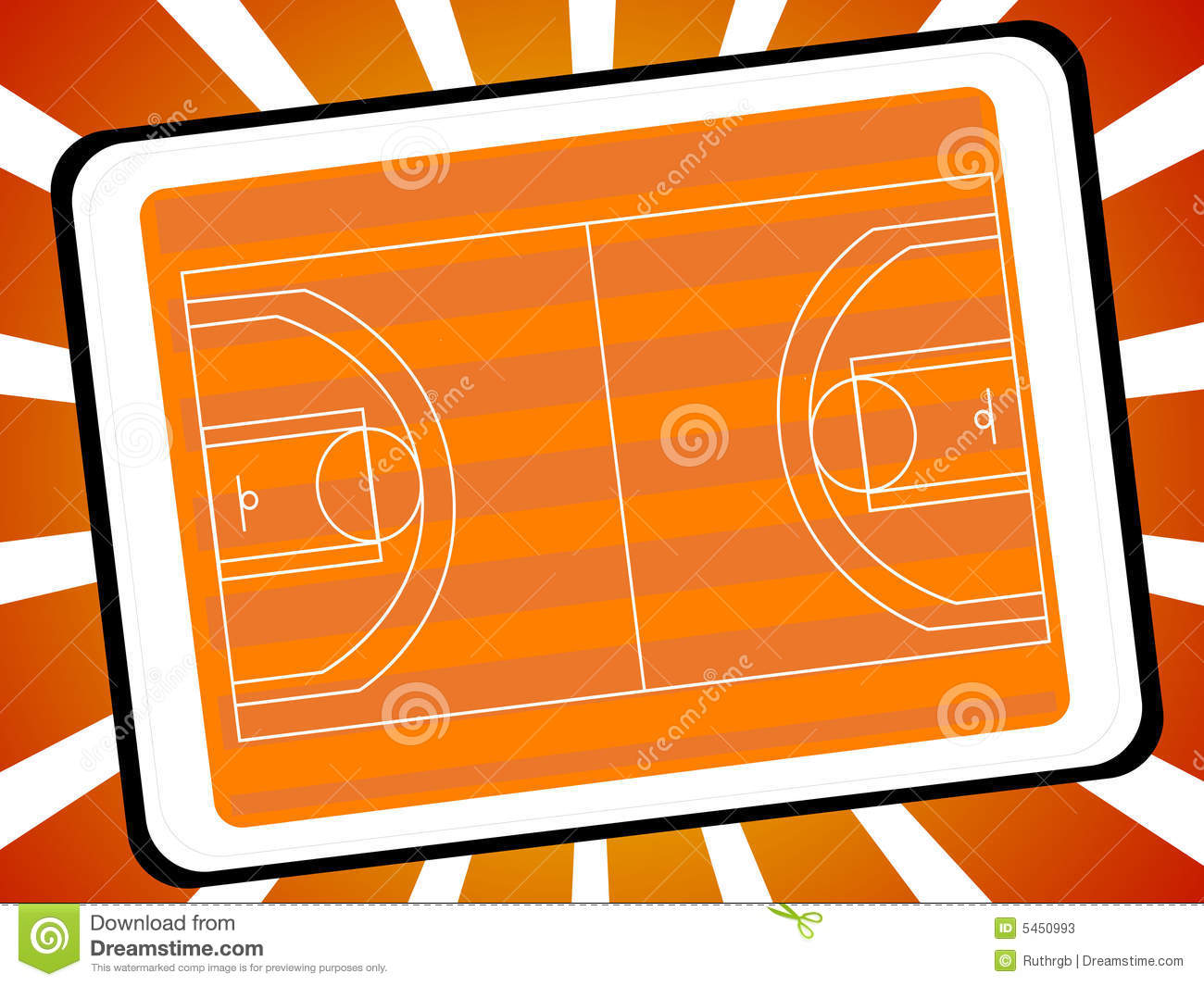 Basketball Court On Sunburst Background Mr No Pr No 3 1052 7