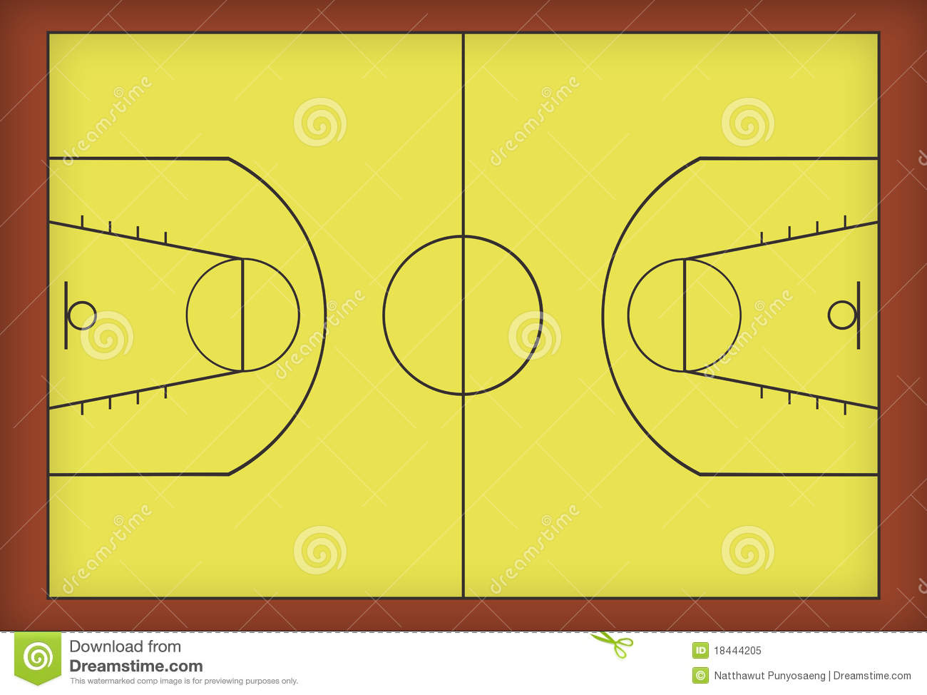 Basketball Court Royalty Free Stock Photo   Image  18444205
