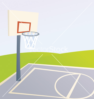 Cartoon Basketball Court Vector Art   Download Court Vectors   708917