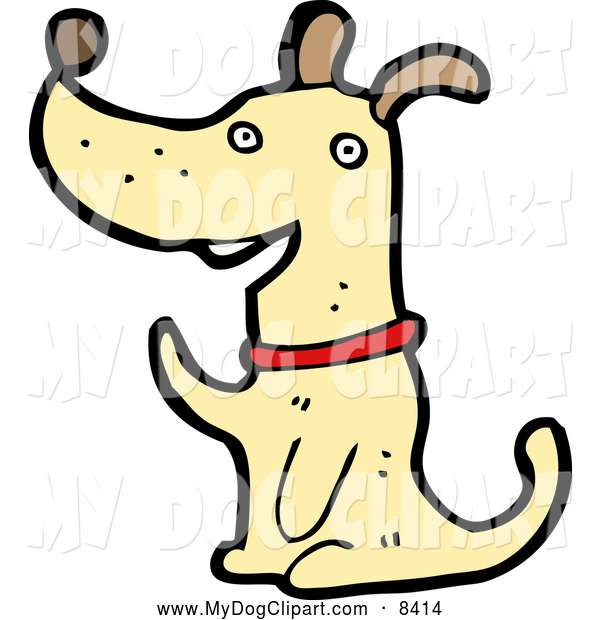 Clip Art Of A Waving Happy Dog By Lineartestpilot 8414 Jpg