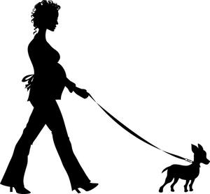 Clip Art Person Walking Dog