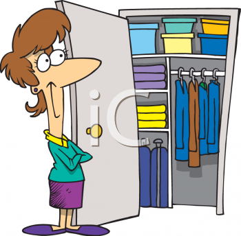 Clipart 0511 0906 1516 4433 Woman With An Organized Closet Clipart