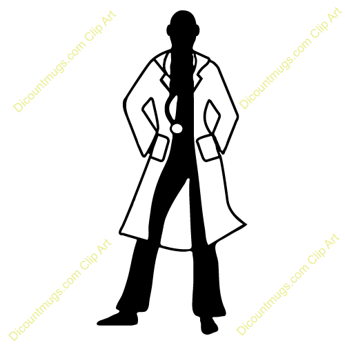Clipart 12417 Doctor Silhouette   Doctor Silhouette Mugs T Shirts