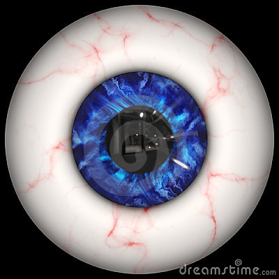 Creepy Human Eyeball Stock Images