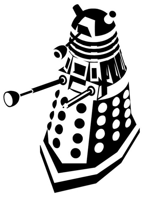 Doodlecraft  Doctor Who Stencil Silhouette Outline Clipart Mania