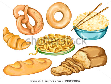 Drawing For Food Nutrition And Diet Of Bakery Products Bakery Flour