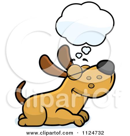 Happy Dog Face Clip Art 1124732 Cartoon Of A Happy Dog Dreaming
