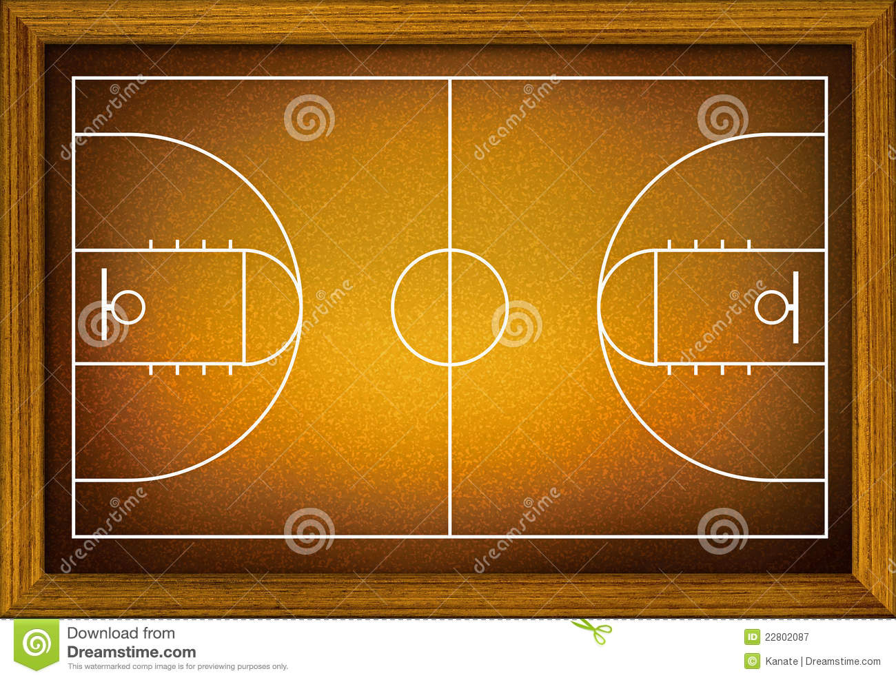 Of Basketball Court In The Wooden Frame Mr No Pr No 2 500 1