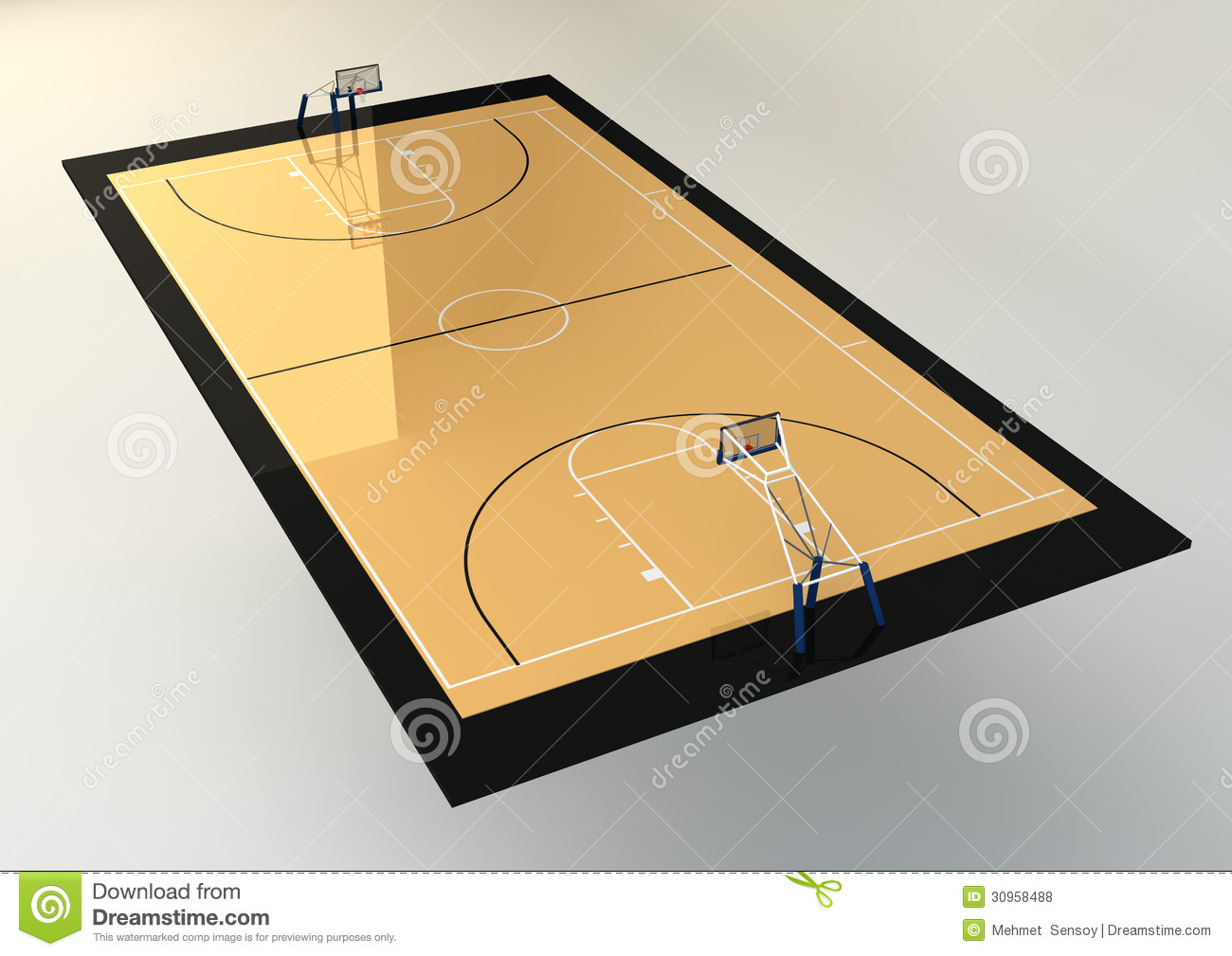 Of Basketball Court Isolated On Grey Background Mr No Pr No 0 314 0