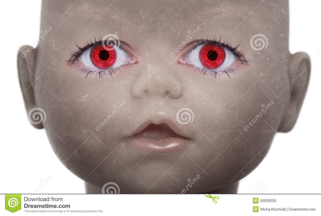 Scary Doll Face With Human Looking Eyes